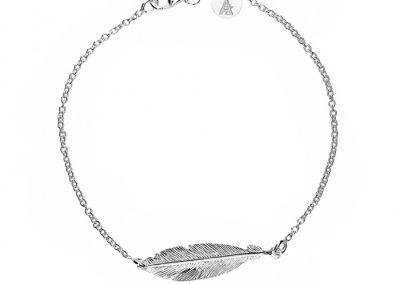 AZ3 29479 silver feather bracelet