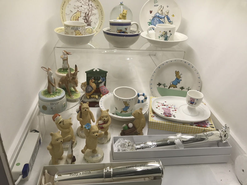 Winnie The Pooh Gifts at Weybridge Surrey Jewellers and Gift Shop
